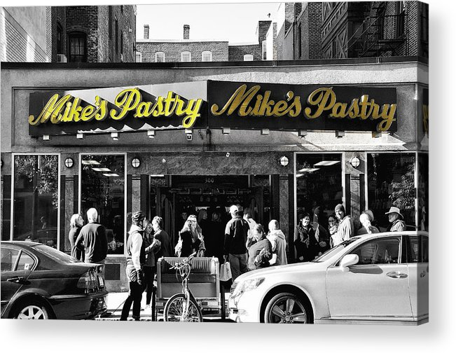 Mike's Pastry Acrylic Print featuring the photograph Mikes Pastry In Boston 2011 by Joseph Duba