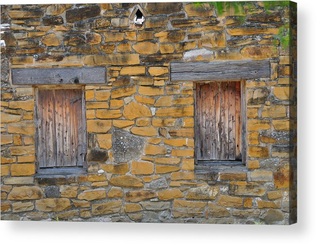 Mission Acrylic Print featuring the photograph Mission Dwelling Windows by Peter McIntosh