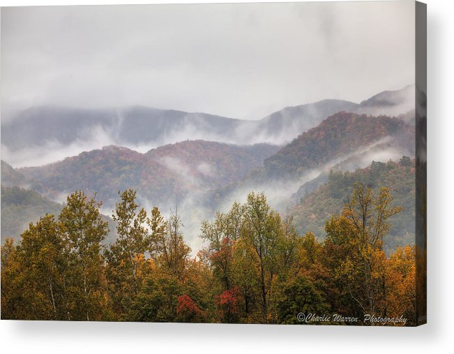 Great Smoky Mountains Acrylic Print featuring the photograph Misty Morning I by Charles Warren