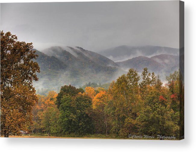 Mountains Acrylic Print featuring the photograph Misty Morning Iv by Charles Warren