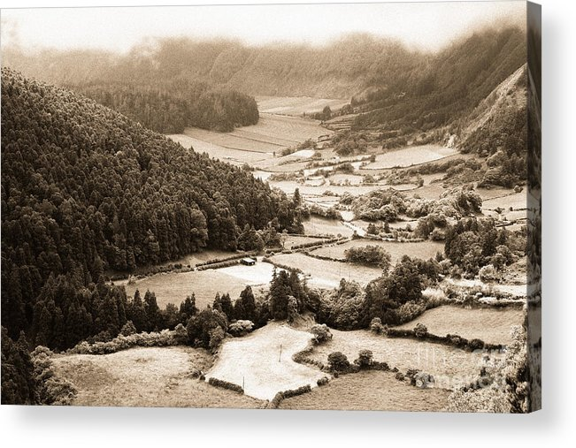 Rural Acrylic Print featuring the photograph Misty Valley by Gaspar Avila