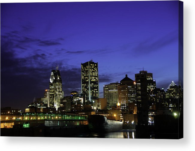 Montreal Acrylic Print featuring the photograph Montreal Night by David Leblanc