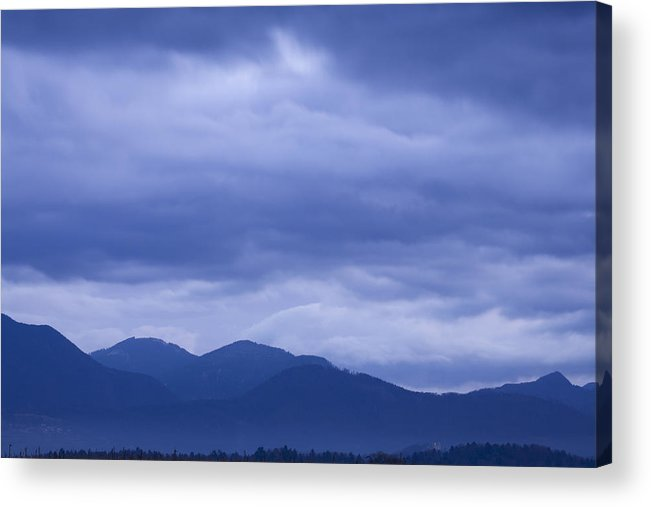 Sunrise Acrylic Print featuring the photograph Moody Sky At Dawn by Ian Middleton