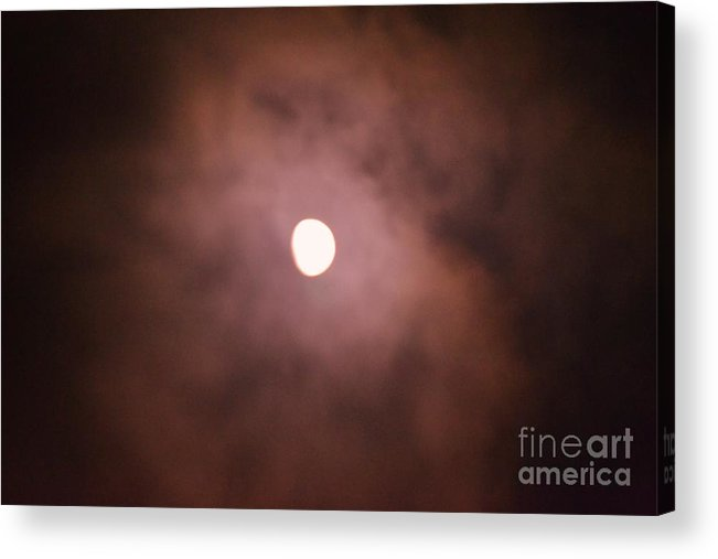 Moon Acrylic Print featuring the photograph Moon 4 by Artie Wallace