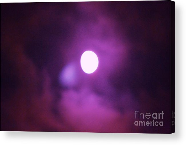 Moon Acrylic Print featuring the photograph Moon 6 by Artie Wallace