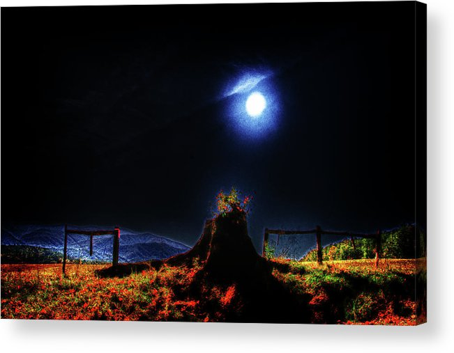 Acrylic Print featuring the photograph Moon Lite In Hdr by Dennis Sullivan