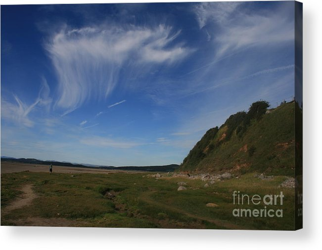 Cirrus Acrylic Print featuring the photograph Morecambe Bay Cirrus by Andy Mercer