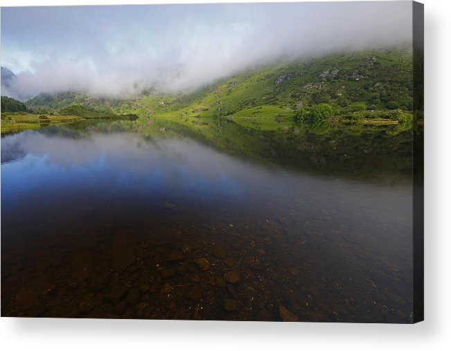 Morning Acrylic Print featuring the photograph Morning Mist Over Gougane Barra Lake by Trish Punch