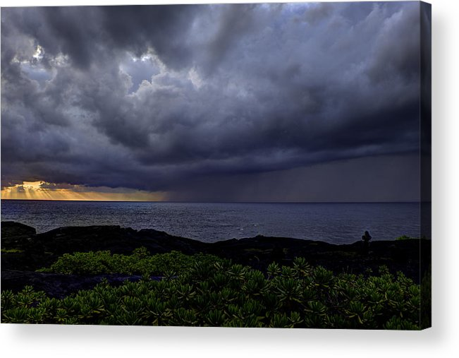 Sunrise Acrylic Print featuring the photograph Morning Squall by Mike Herdering