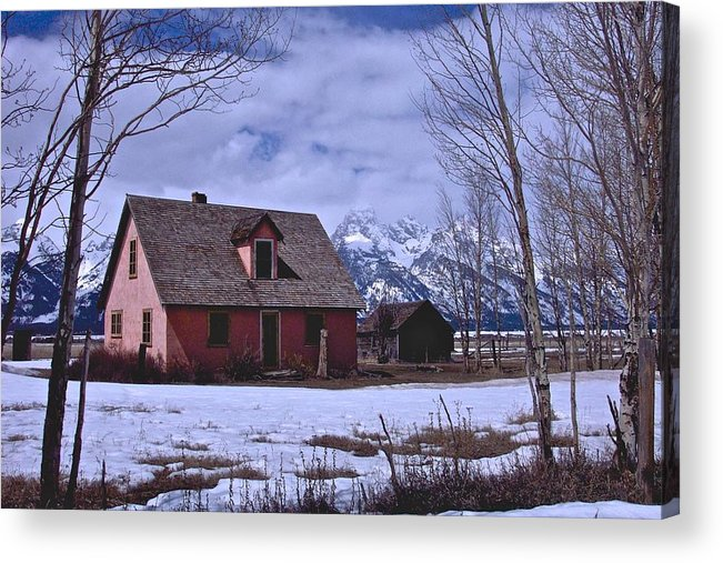 Grand Teton National Park Acrylic Print featuring the photograph Moulton's Pink House On Mormon Row by Eric Tressler