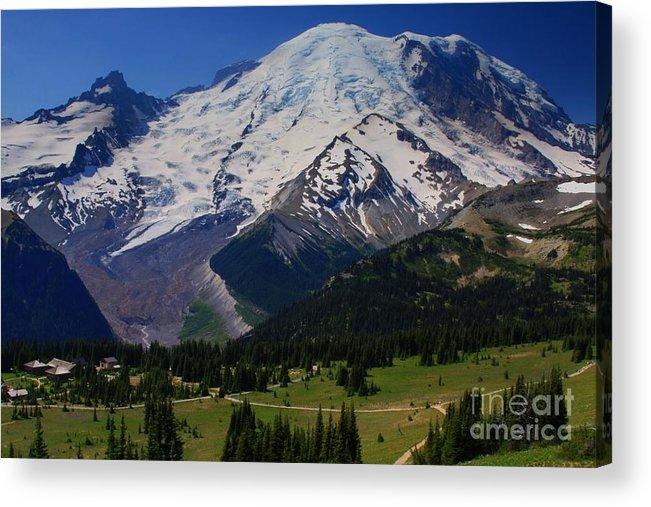 Mountain Acrylic Print featuring the photograph Mount Rainier Again by Angela Q