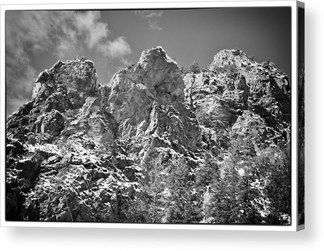Mountain Acrylic Print featuring the photograph Mountain Peaks by Lisa Spencer