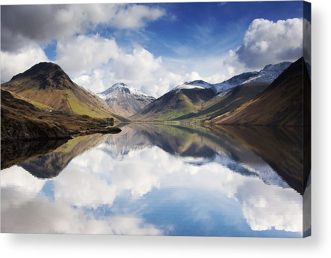 Cumbria Acrylic Print featuring the photograph Mountains And Lake, Lake District by John Short