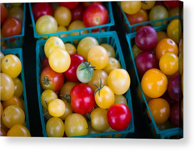 Colorful Acrylic Print featuring the photograph Multicolored Baby Tomatoes by Dina Calvarese