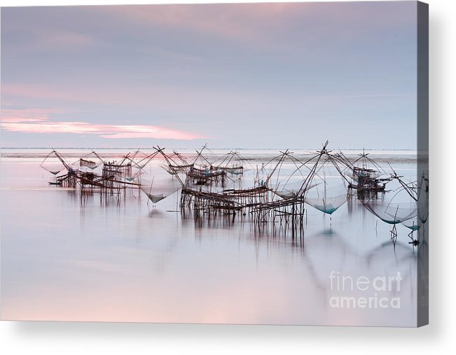 Agriculture Acrylic Print featuring the photograph Native Asian Fishery by Buchachon Petthanya