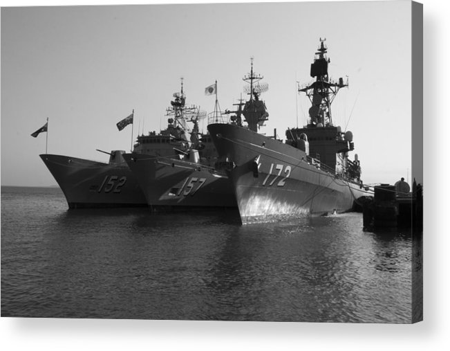 Naval Joint Operations Acrylic Print featuring the photograph Naval Joint Ops V1 by Douglas Barnard