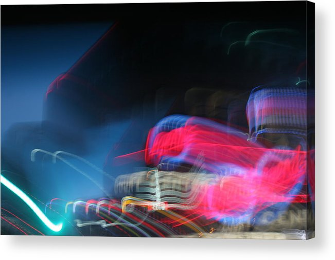 Neon Acrylic Print featuring the photograph Neon Nights by Rick Rauzi
