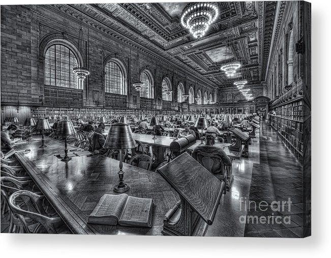 Clarence Holmes Acrylic Print featuring the photograph New York Public Library Main Reading Room Vi by Clarence Holmes