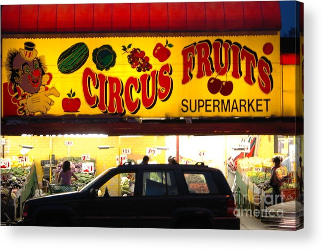 Bklyn Acrylic Print featuring the photograph Night At The Supermarket by Mark Gilman
