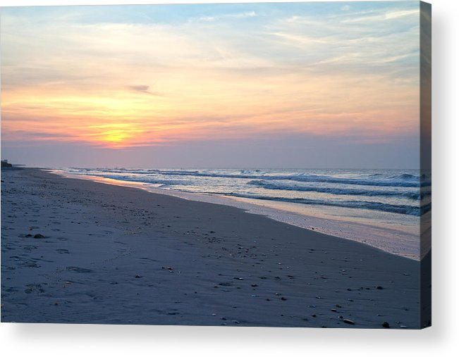 Topsail Acrylic Print featuring the photograph North Topsail Beach Serenity by Betsy Knapp