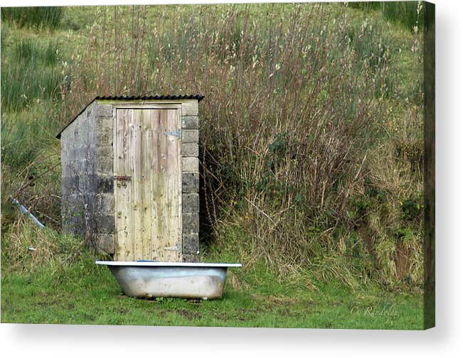 Privy Acrylic Print featuring the photograph Not Ensuite by Cheri Randolph