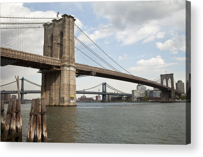Acrylic Print featuring the photograph Ny Bridges 1 by Art Ferrier