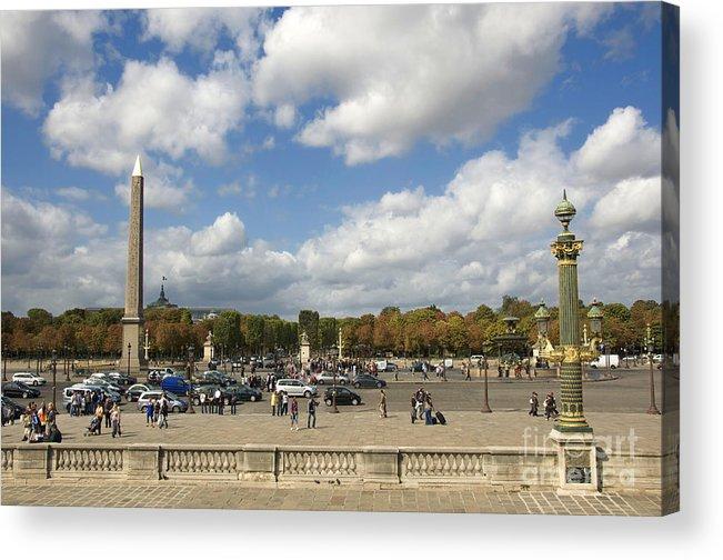 Paris Acrylic Print featuring the photograph Obelisque Place De La Concorde. Paris. France by Bernard Jaubert