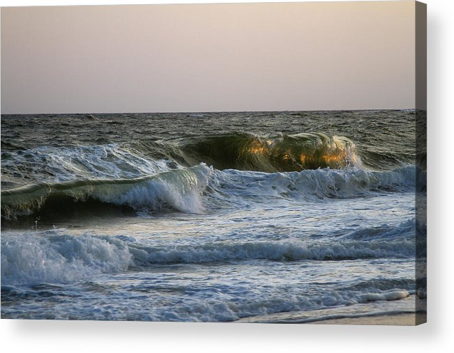 Ocean Acrylic Print featuring the photograph Ocean Waves by Bob Retnauer