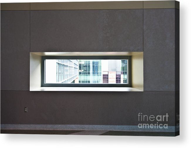 Architectural Detail Acrylic Print featuring the photograph Office Buildings Seen Through Window by Dave & Les Jacobs