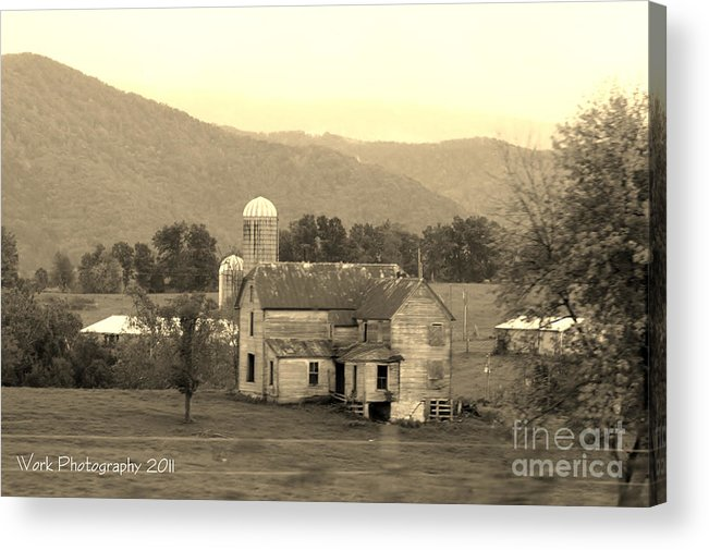 Barn Acrylic Print featuring the photograph Old Barn by Lori Work