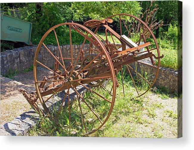 France Acrylic Print featuring the photograph Old Farm Machine 3 by Rod Jones