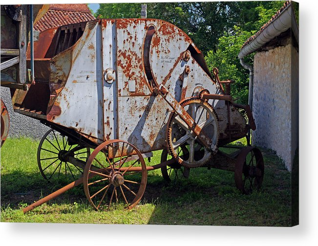 France Acrylic Print featuring the photograph Old Farm Machine by Rod Jones