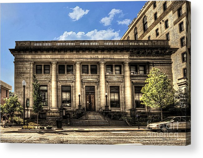 Old Post Office Acrylic Print featuring the photograph Old Post Office Morgantown Wv by Dan Friend