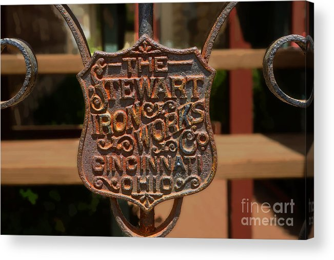 Iron Acrylic Print featuring the photograph Old Rusty Gate by Michael Flood
