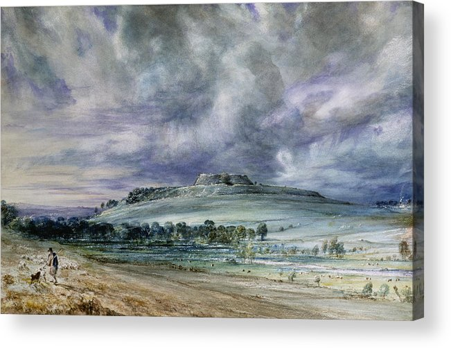 Old Sarum Acrylic Print featuring the painting Old Sarum by John Constable