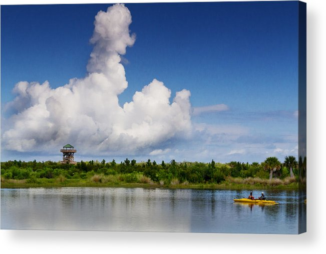 Robinson Acrylic Print featuring the photograph On The Water by Nicholas Evans