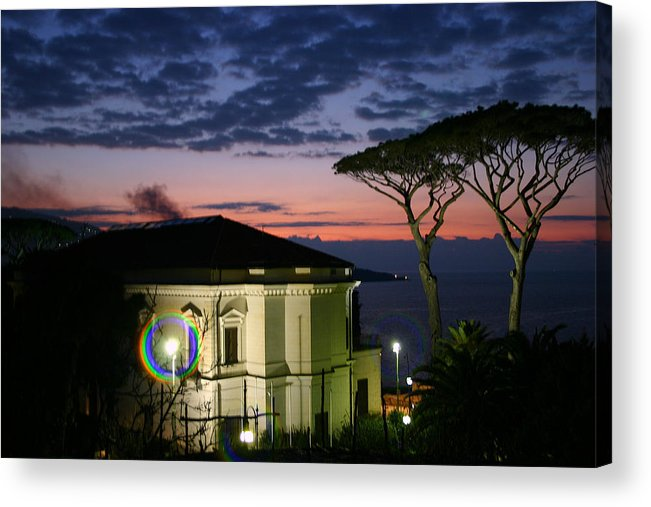 Sorrento Acrylic Print featuring the photograph One Night In Sorrento by Paula Hammond