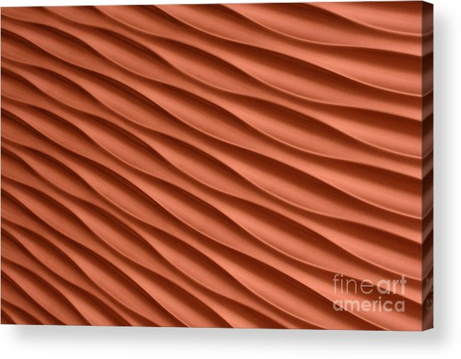 Abstract Acrylic Print featuring the photograph Orange Artistic Background by Roberto Giobbi
