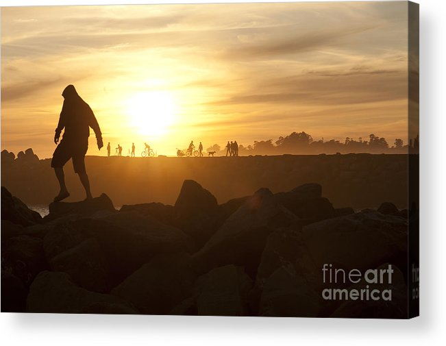 Silhouette Acrylic Print featuring the photograph Ordinary Day Extraordinary Life by Artist and Photographer Laura Wrede