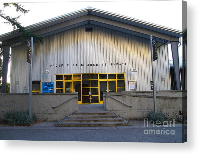 Architecture Acrylic Print featuring the photograph Pacific Film Archive Theater . Uc Berkeley . 7d10199 by Wingsdomain Art and Photography