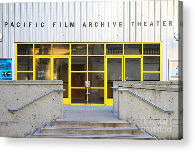 Architecture Acrylic Print featuring the photograph Pacific Film Archive Theater . Uc Berkeley . 7d10200 by Wingsdomain Art and Photography