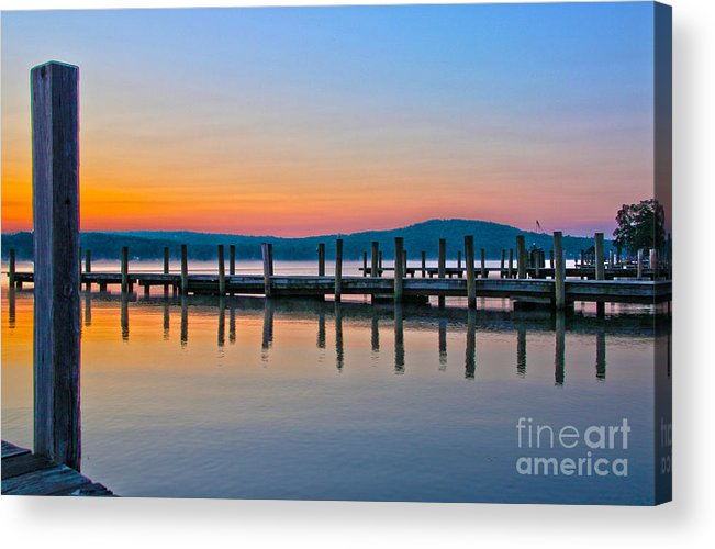 Lake Winnipesaukee Acrylic Print featuring the photograph Painting On The Lake by Michael Mooney