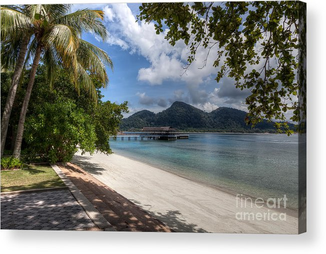 Beach Acrylic Print featuring the photograph Paradise Island by Adrian Evans