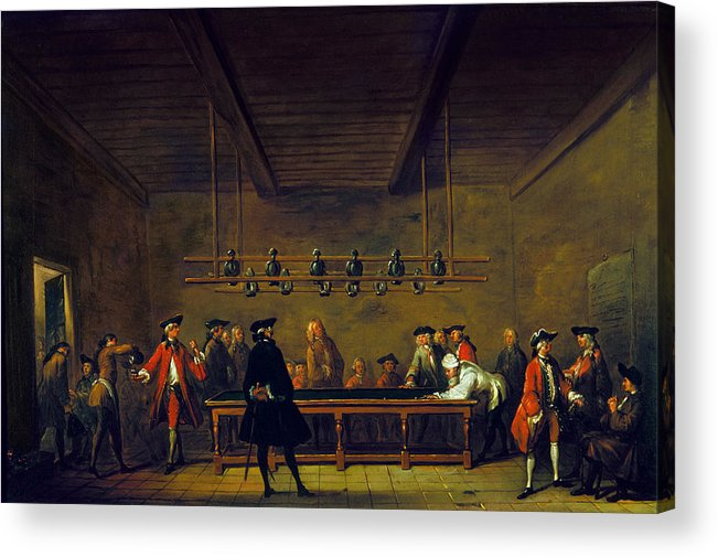 1725 Acrylic Print featuring the photograph Paris: Billiards, 1725 by Granger