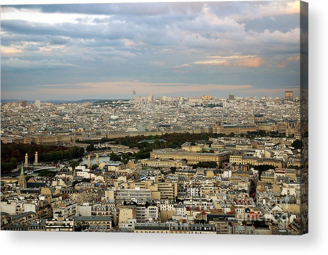 Landscape Acrylic Print featuring the photograph Paris City View by Ivy Ho