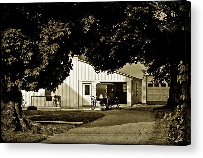 Buggy Acrylic Print featuring the photograph Parked Buggy - Lancaster Pennsylvania by Madeline Ellis