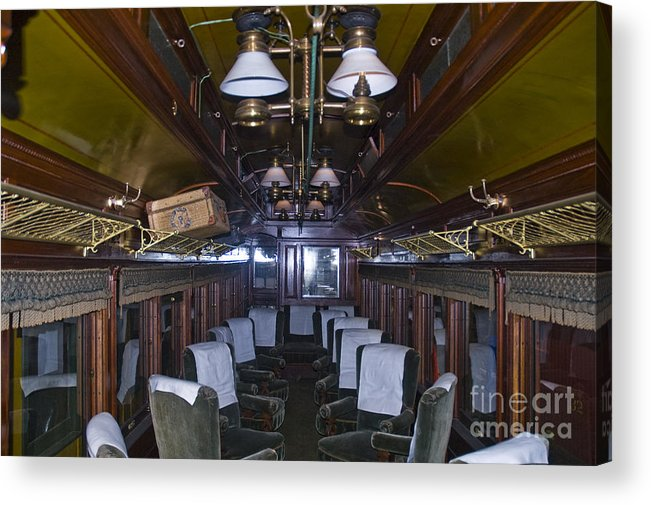 Sandy River & Rangeley Lakes Railroad Acrylic Print featuring the photograph Parlor Car by Tim Mulina