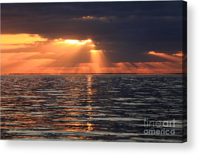 North Carolina Outer Banks Acrylic Print featuring the photograph Peaking Through The Clouds by Adam Jewell