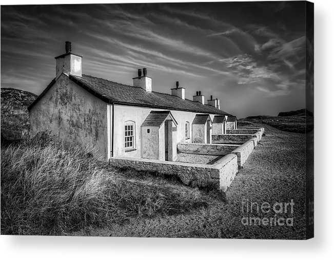 Anglesey Acrylic Print featuring the photograph Pilot Cottages by Adrian Evans
