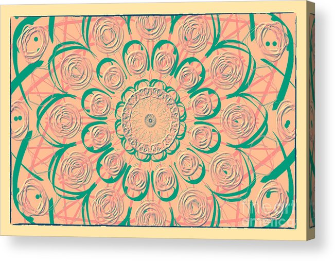 Susan Lipschutz Acrylic Print featuring the digital art Pink Swirls by Susan Lipschutz